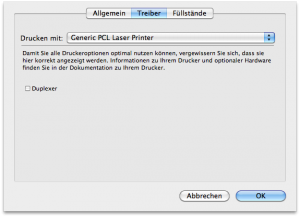 3. Treiber --> Generic PLC Laser Printer